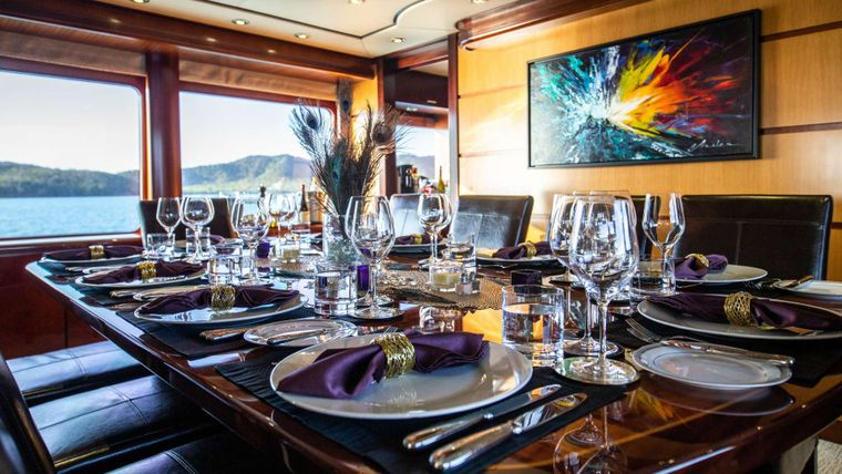 Just Enough Yacht Charter - Dining Area