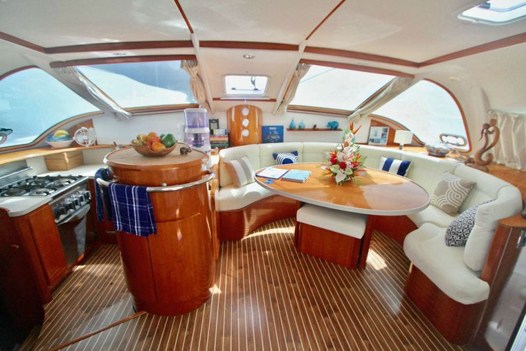 ISOLABLUE Yacht Charter - Salon and Galley