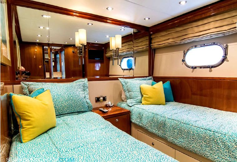 CYNDERELLA Yacht Charter - Convertible Twin/ Queen Stateroom