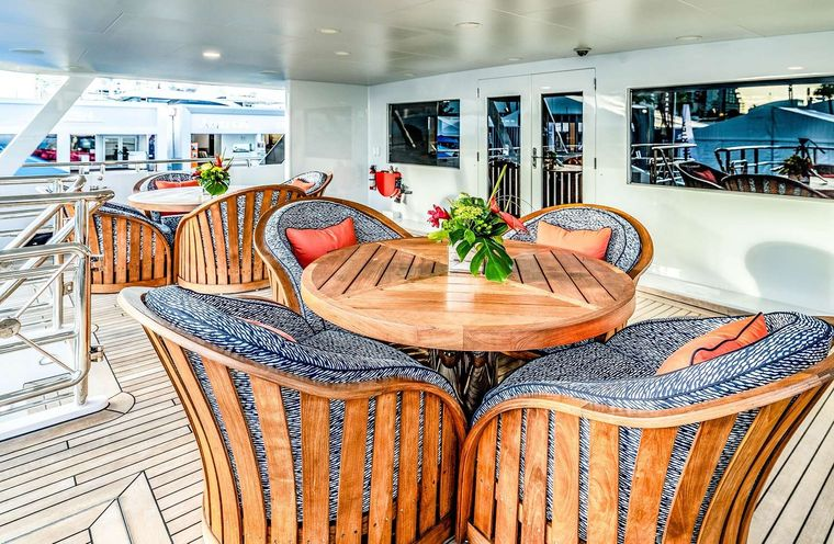 NEVER ENOUGH Yacht Charter - Aft deck