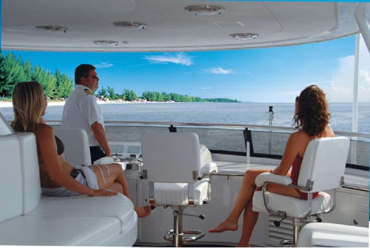 NEVER ENOUGH Yacht Charter - Top deck helm