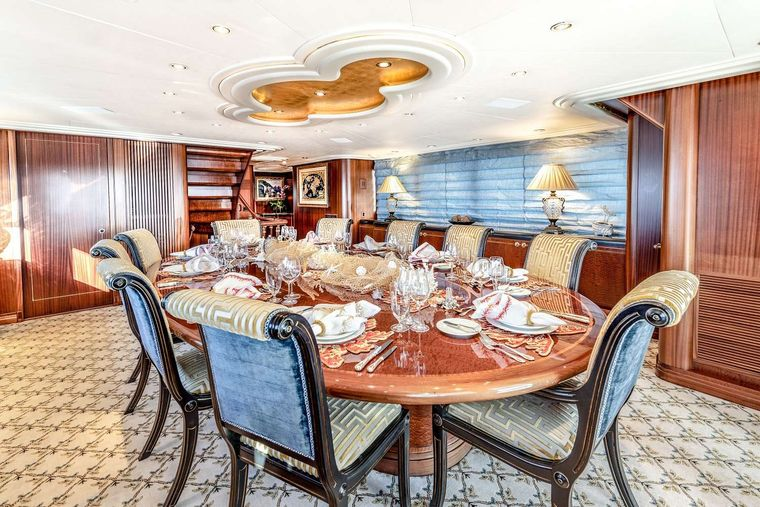 NEVER ENOUGH Yacht Charter - Formal dining