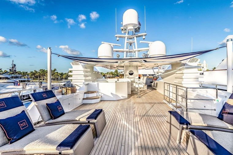 NEVER ENOUGH Yacht Charter - Top deck
