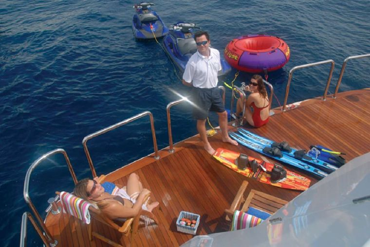 NEVER ENOUGH Yacht Charter - Swim Platform