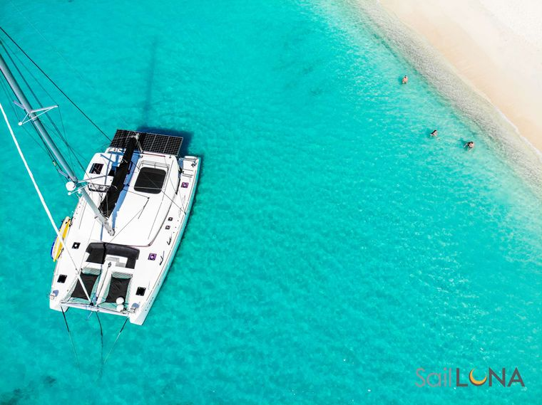 LUNA Yacht Charter - When turquoise waters invite adventure, Luna is geared up to accommodate snorkelers, kayakers, and stand-up paddleboarders.