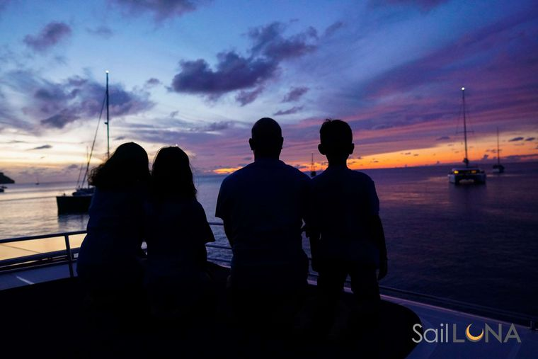 LUNA Yacht Charter - Stellar sunsets, the perfect way to end the day