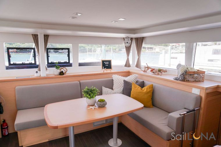 LUNA Yacht Charter - Luna is outfitted with comfortable lounge areas from bow to stern.
