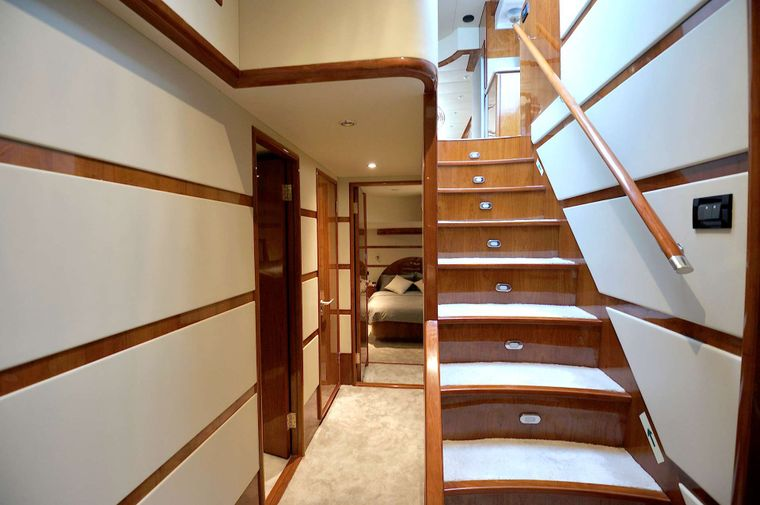 LADY KATHRYN Yacht Charter - from cabin deck  to saloon deck