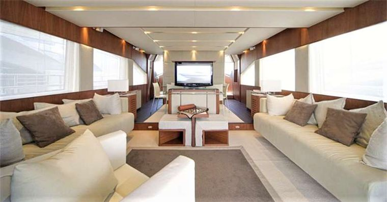 QUESTA e VITA Yacht Charter - Pop Up TV with 360 turn