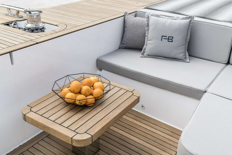 FEEL THE BLUE Yacht Charter - Front Terrace