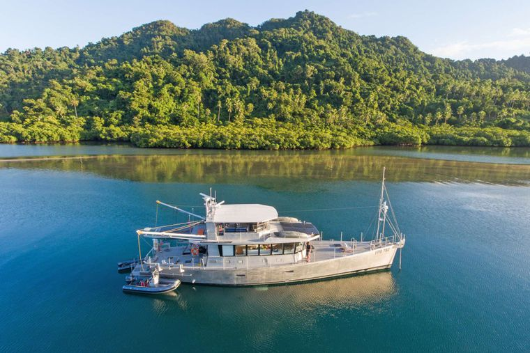 GREY WOLF Yacht Charter - Low profile exterior conceals luxurious interior