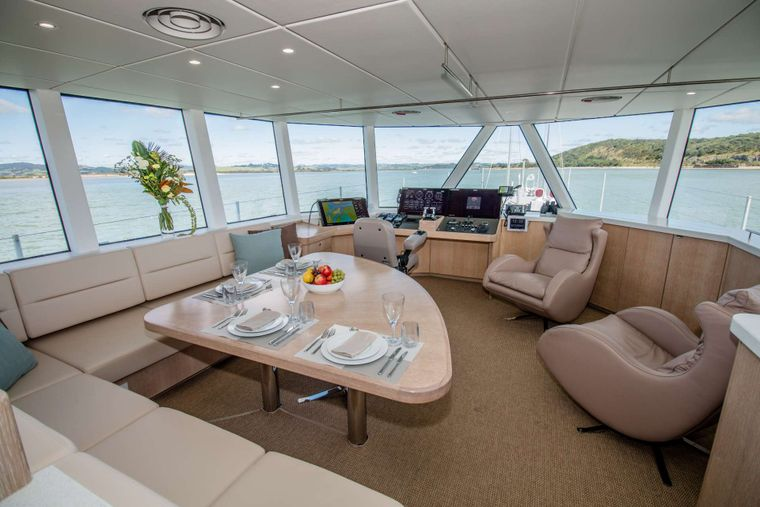 GREY WOLF Yacht Charter - Interiors custom-designed for comfort at sea