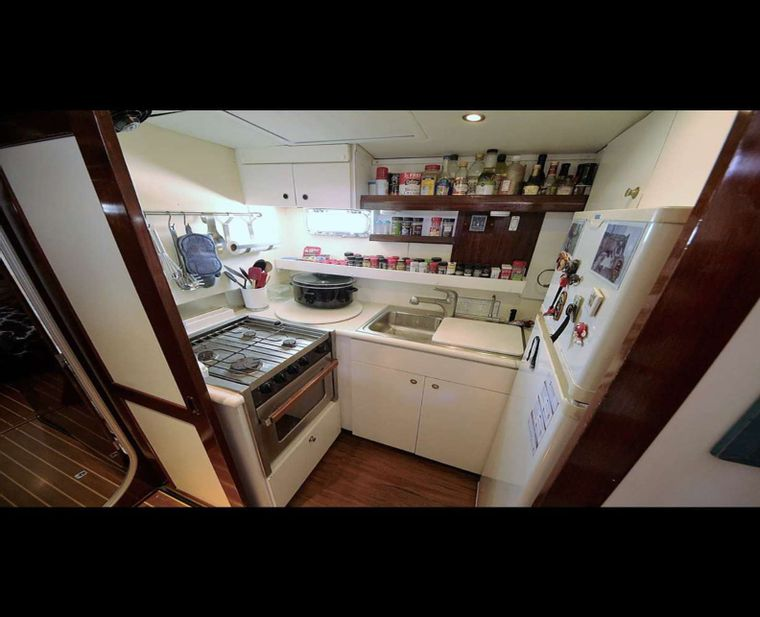 SOUTHERN PASSAGE Yacht Charter - Galley Below
