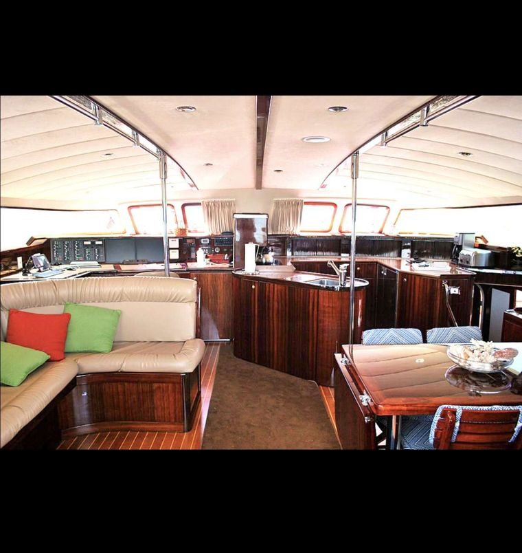 SOUTHERN PASSAGE Yacht Charter - Salon From Galley