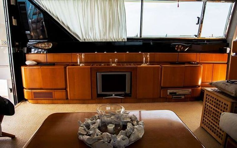 SOFIA Yacht Charter - Saloon View
