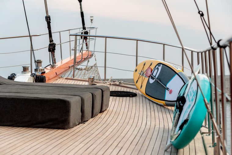 Vita Dolce Yacht Charter - Sunbed and toys