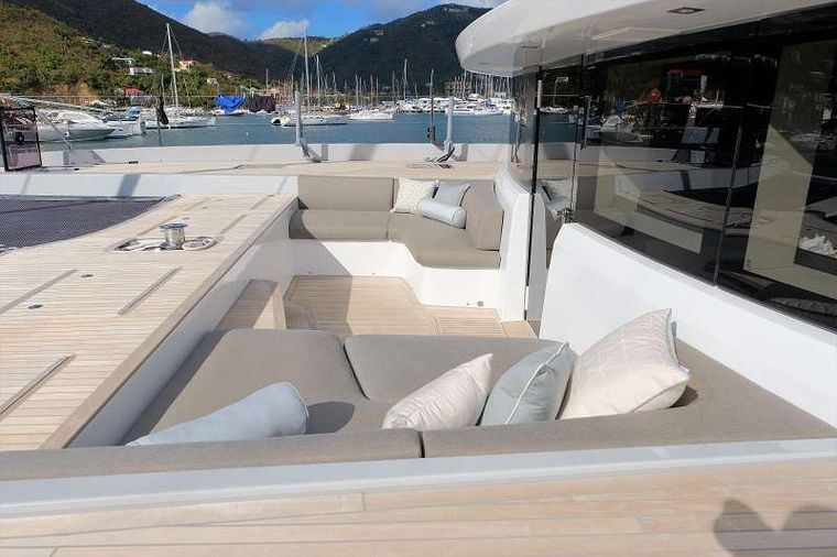 TELLSTAR Yacht Charter - Additional lounge area on the bow