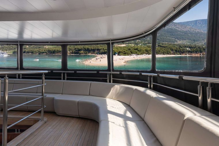 Cristal Yacht Charter - Deck lounge