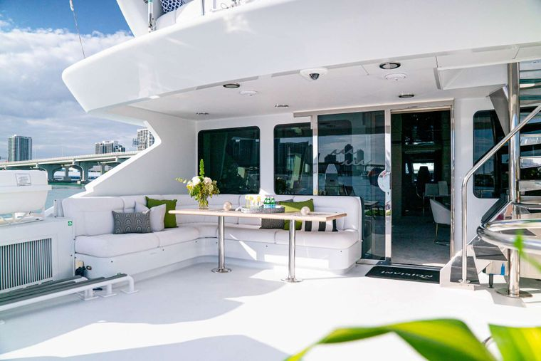 INVISION Yacht Charter - Aft Deck