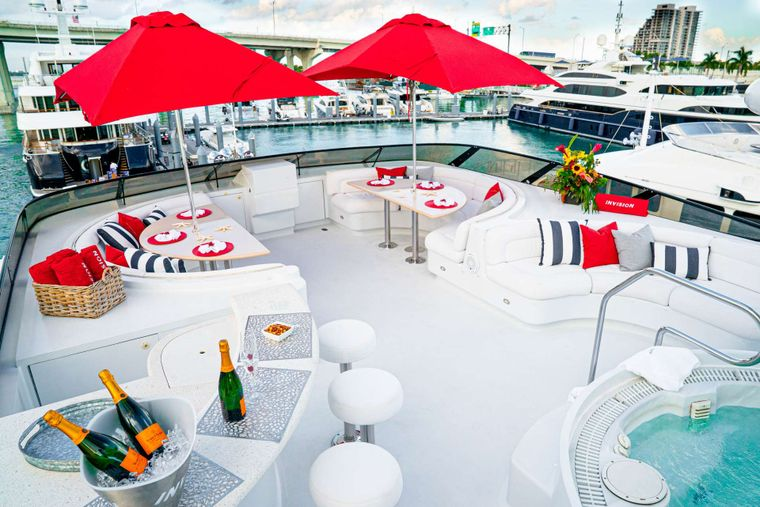 INVISION Yacht Charter - Deck Jacuzzi