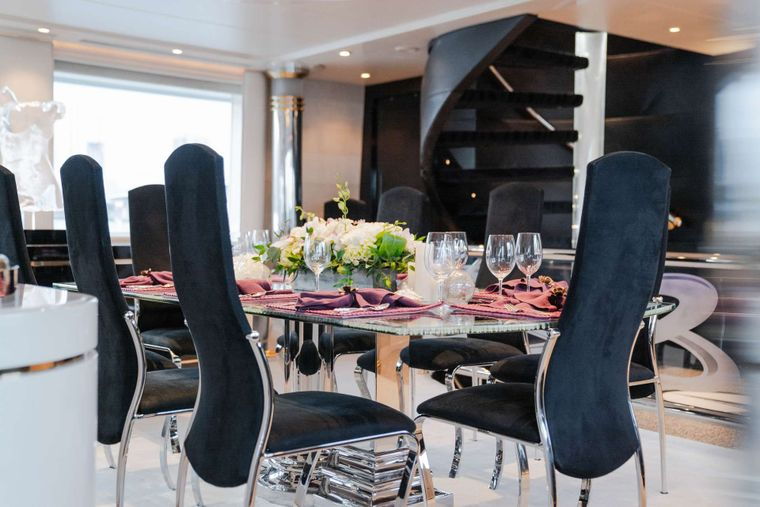 INVISION Yacht Charter - Formal Dining