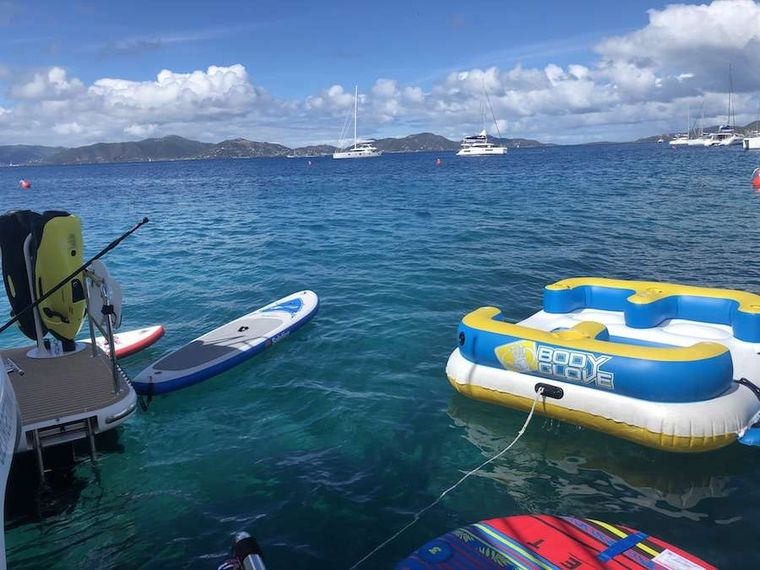 MYSTIC SOUL Yacht Charter - Toys lined up astern