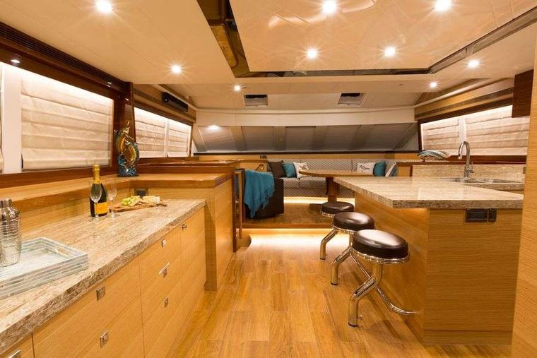 MYSTIC SOUL Yacht Charter - Saloon and Galley