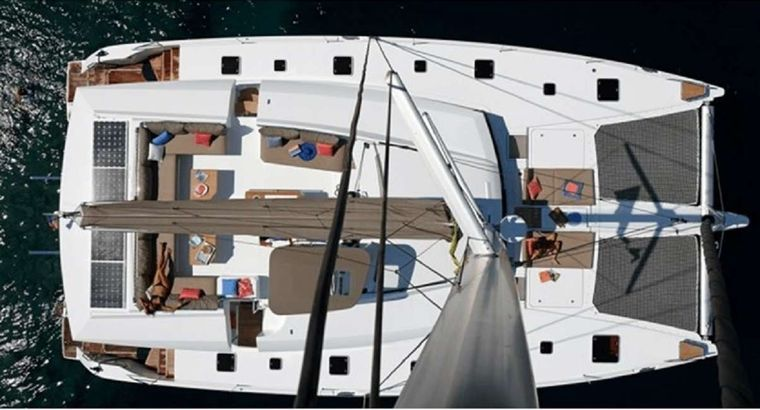 ENCHANTE Yacht Charter - Top Deck cover removed for Picture