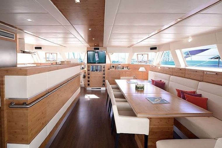 EXCESS Yacht Charter - Main Salon and Dining Area