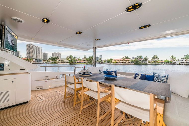 MAJESTIC MOMENTS Yacht Charter - Aft Deck