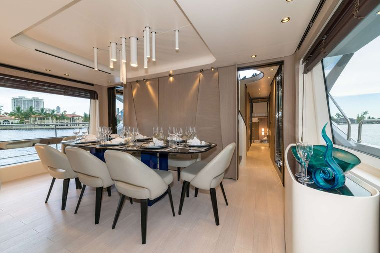 MAJESTIC MOMENTS Yacht Charter - Dining Table
