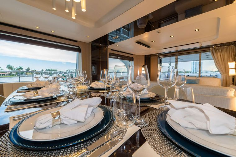 MAJESTIC MOMENTS Yacht Charter - Dining Table details