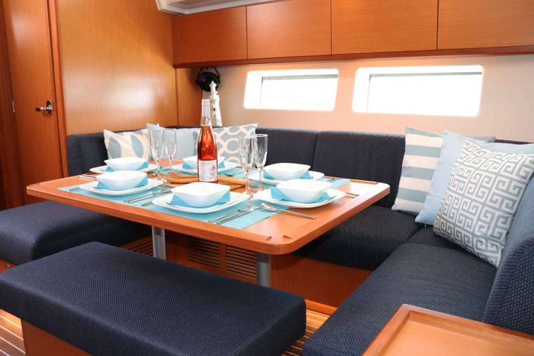 Wyvern Yacht Charter - Dining Table