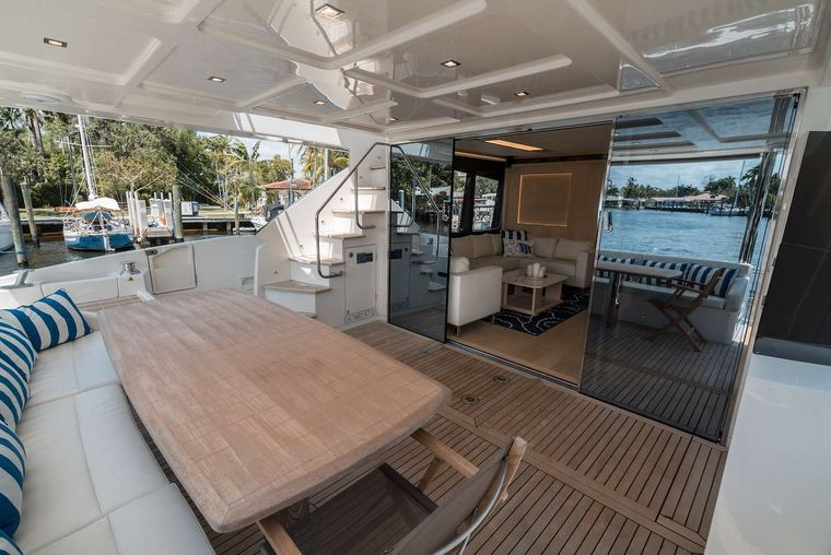 STAY COOL Yacht Charter - Aft Deck Table