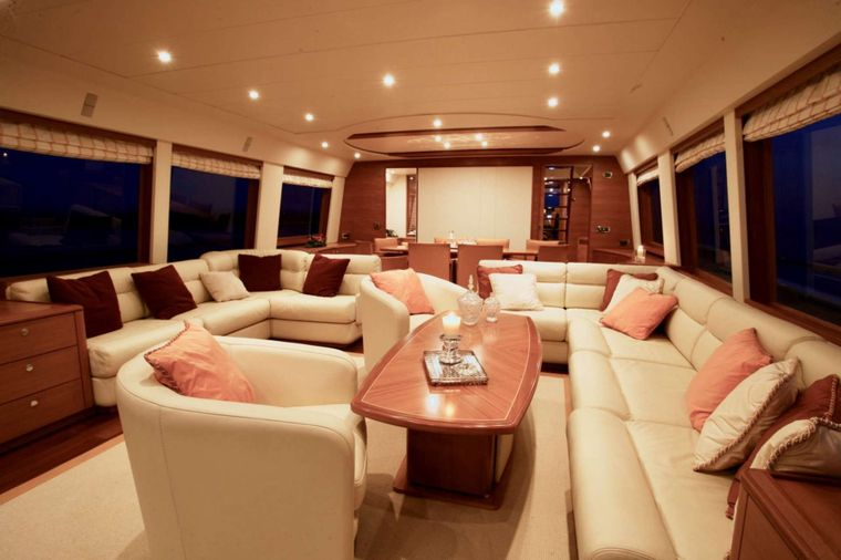 ECLIPSE 114 Yacht Charter - Fly deck great seating, bar and Jacuzzi
