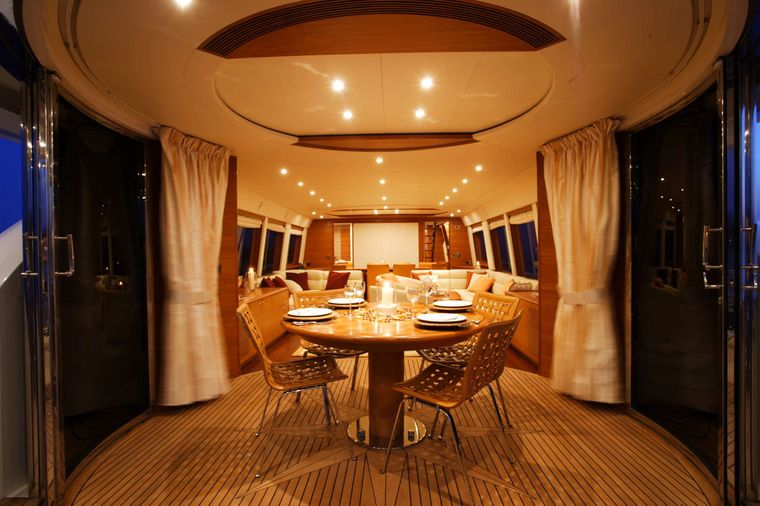 ECLIPSE 114 Yacht Charter - Salon with lots of seating