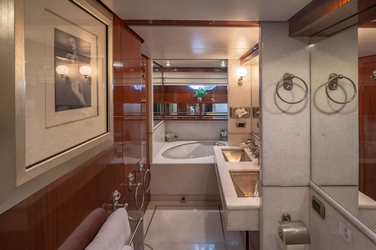 GRACE Yacht Charter - Master Bathroom