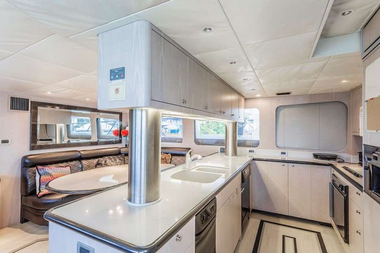 PRIME TIME Yacht Charter - Galley and dinette