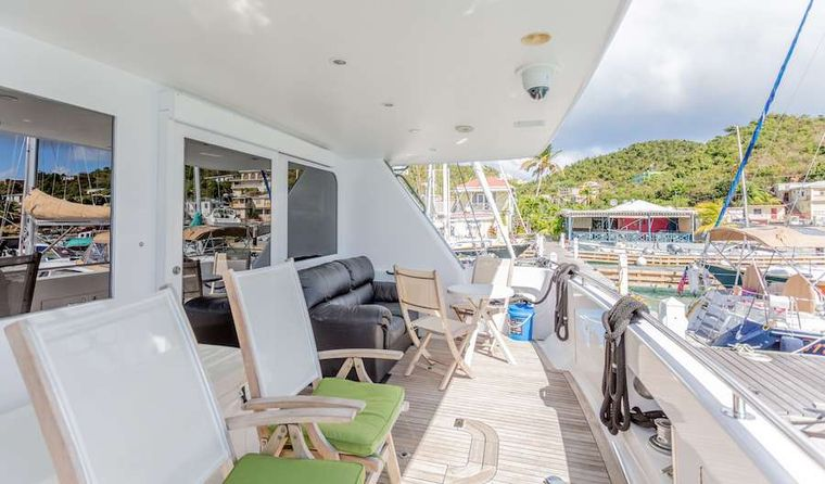 PRIME TIME Yacht Charter - Aft deck