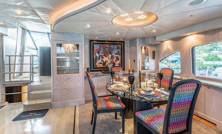 PRIME TIME Yacht Charter - The interior dining area