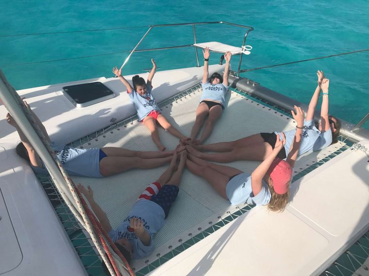 GUINEVERE Yacht Charter - Stretching out on Guinevere