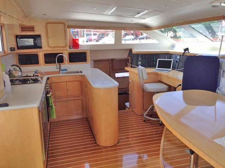 GUINEVERE Yacht Charter - Main Salon and Galley