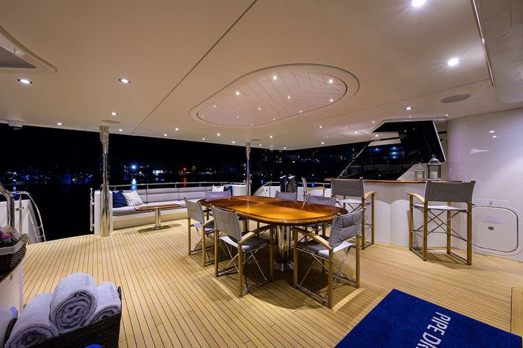 PIPE DREAM Yacht Charter - Aft Deck
