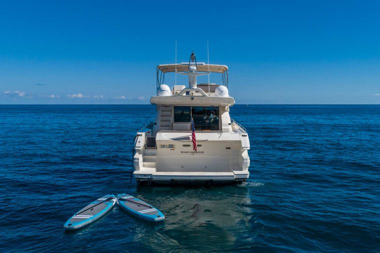 Lindy Lou Yacht Charter - Stern view wit toys