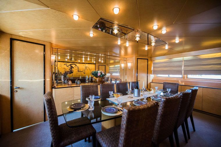 ANDREA Yacht Charter - Dining area