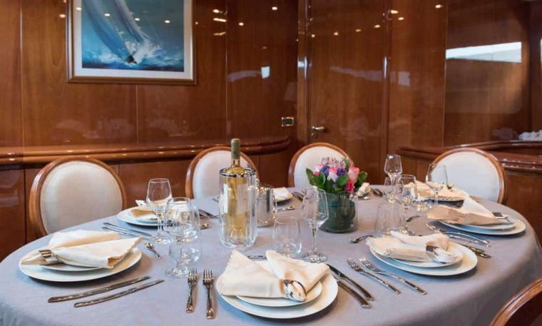 SUGAR Yacht Charter - Dining area