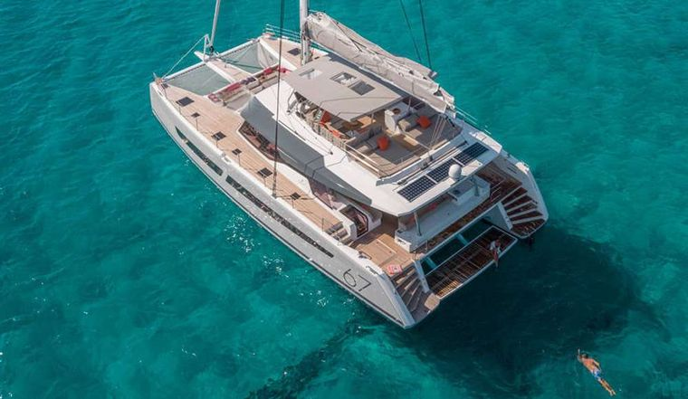 BLACK CAT Yacht Charter - Aerian view