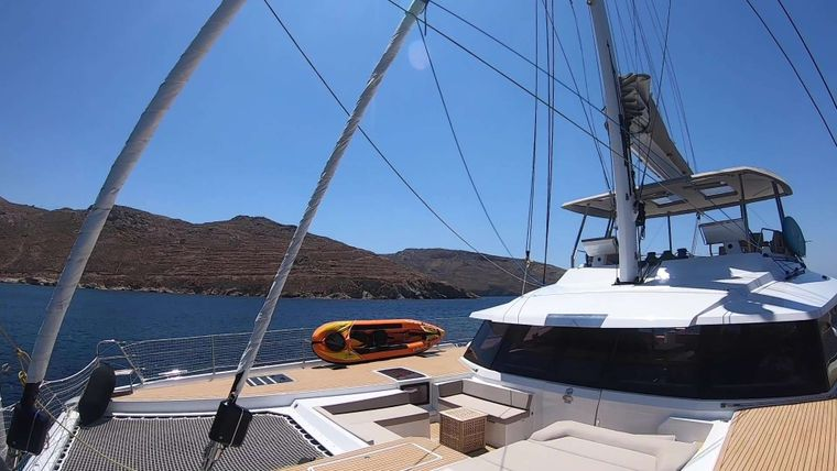 BLACK CAT Yacht Charter - On deck