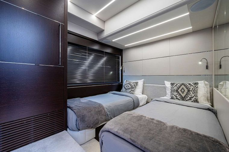 Strategic Dreams Yacht Charter - Master stateroom alt view
