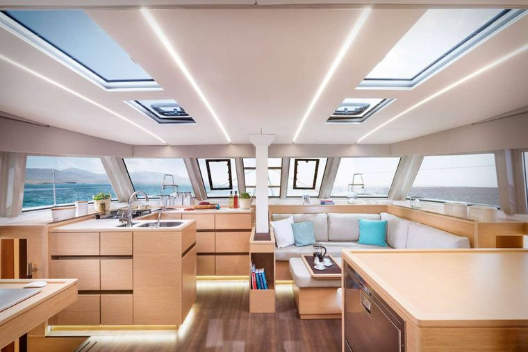 ILLUSION Yacht Charter - Salon and Galley